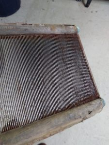 Metal reed before cleaning